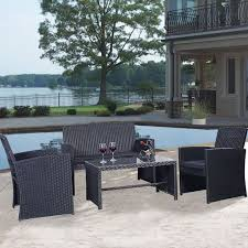 Ebay Rattan Patio Sets by Best 25 Black Rattan Garden Furniture Ideas On Pinterest Small