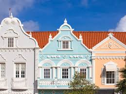 Colonial Dutch Architechure Near Main Street Oranjestad Aruba Netherlands Antilles Caribbean