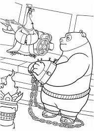 Kung Fu Panda Po Being Handcuffed In Coloring Page