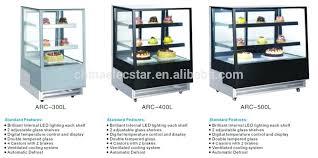 Compact Design Cake Display Fridge Curved Glass Refrigerator Counter Case