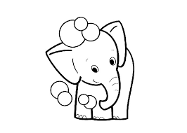 Download Free Printable Baby Elephant Coloring Page To Color