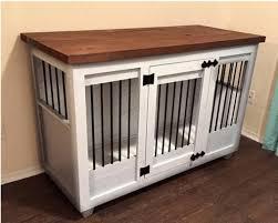 custom white kennel furniture crate furniture etsy