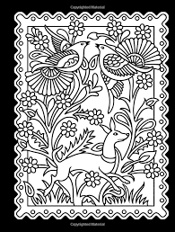 Mexican Designs Stained Glass Coloring Book By Dover
