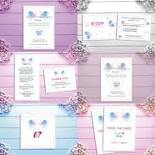 Templates Of Wedding Invitations Thank You Cards Or Table Cards Stock Vector Image
