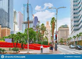 100 Angelos Landscape View Of The Downtown Of Los In The Daytime Editorial Image