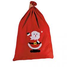 Hotte Père Noël Sac Feutrine Rouge Déco Déguisement Noël Féezia