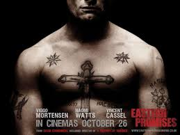 Actor Eastern Promises Cross Tattoo Design On Chest