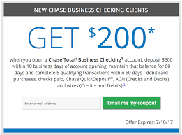 Expired] Chase Business Checking $200 Bonus, No Direct ... Roundup Of Bank Bonuses 750 At Huntington 200 From Chase Total Checking Coupon Code 100 And Account Review Expired Targeting Some Ink Cardholders With 300 Brighton Park Community Bonus 300 Promotion Palisades Credit Union Referral 50 New Is It A Trap Offering Just To Open Checking Promo Codes 350 500 625 Business Get With 600 And Savings Accounts Handcurated List The Best Sign Up In 2019 Promotions Virginia