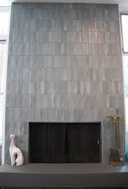 Batchelder Tile Fireplace Surround by Heath Ceramics Tile In Layered Glaze In Chalk Gunmetal