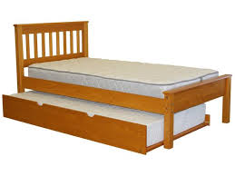 Twin Mission Bed Honey Twin Trundle $296