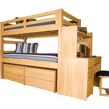 Xl Twin Bunk Bed Plans by University Loft Graduate Series Twin Xl Bunk Bed Natural Finish
