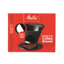 Melitta Ready Set Joe Pour Over Coffee Brewer Black 1 Cups