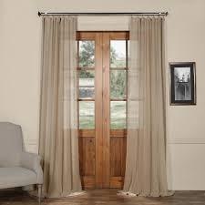 120 Inch Linen Curtain Panels mauve solid faux linen sheer curtain