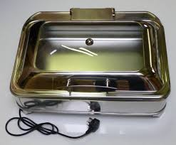 Display Electric Chafing Dish Oblong GN 1 Size Soft Close Lid BACHAFER OBL