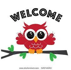 Wel e Sweet Little Red Owl Stock Illustration