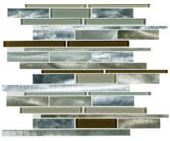 Menards 3 Drain Tile by Ragno Usa Peidra 12 X 15 Glass And Metal Mosaic Tile At Menards