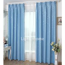 Fabric For Curtains Cheap by Cheap Kids Room Blackout Ba Blue And Silver Star Curtains For Baby