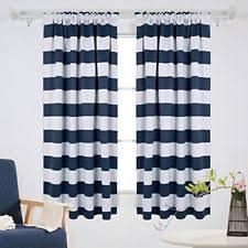 navy striped curtains ebay