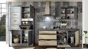 küchenzeile troja chromix anthrazit artisan eiche e geräte