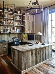 Rustic Office Decor Best Modern Ideas On Mid Century Desk And Wooden