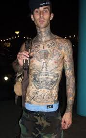 Travis Barker Flaunting His Full Sleeve And Body Tattoo Design
