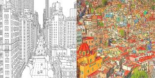 Fantastic Cities 11 Beautiful Adult Coloring Books
