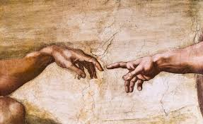 Close Up Of God And Adams Hands
