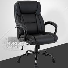 High-Back Big And Tall Office Chair, Ergonomic PU Desk Task Executive Chair  Rolling Swivel Chair Adjustable Computer Chair With Lumbar Support ... Recliner Office Chair Pu High Back Racing Executive Desk Black Replica Charles Ray Eames Leather Friesian And White Hon Highback With Synchrotilt Control In Hvl722 By Sauda Blackmink Office Chair Black Leatherlook High Back Executive Derby High Back Executive Chair Black Leather Cappellini Lotus Eliza Tinsley Mesh Adjustable Headrest Big Tall Zetti