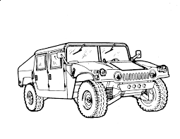 Vehicle Military Coloring Pages