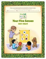 100 Starfall 3 Pre YYour Five Sensesour Five Senses Pages 1 28