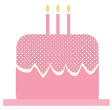 happy birthday pink cake clipart