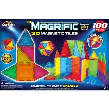 Picasso Magnetic Tiles Vs Magna Tiles by Cra Z Art Magrific 100 Piece Magnetic Set Walmart Com
