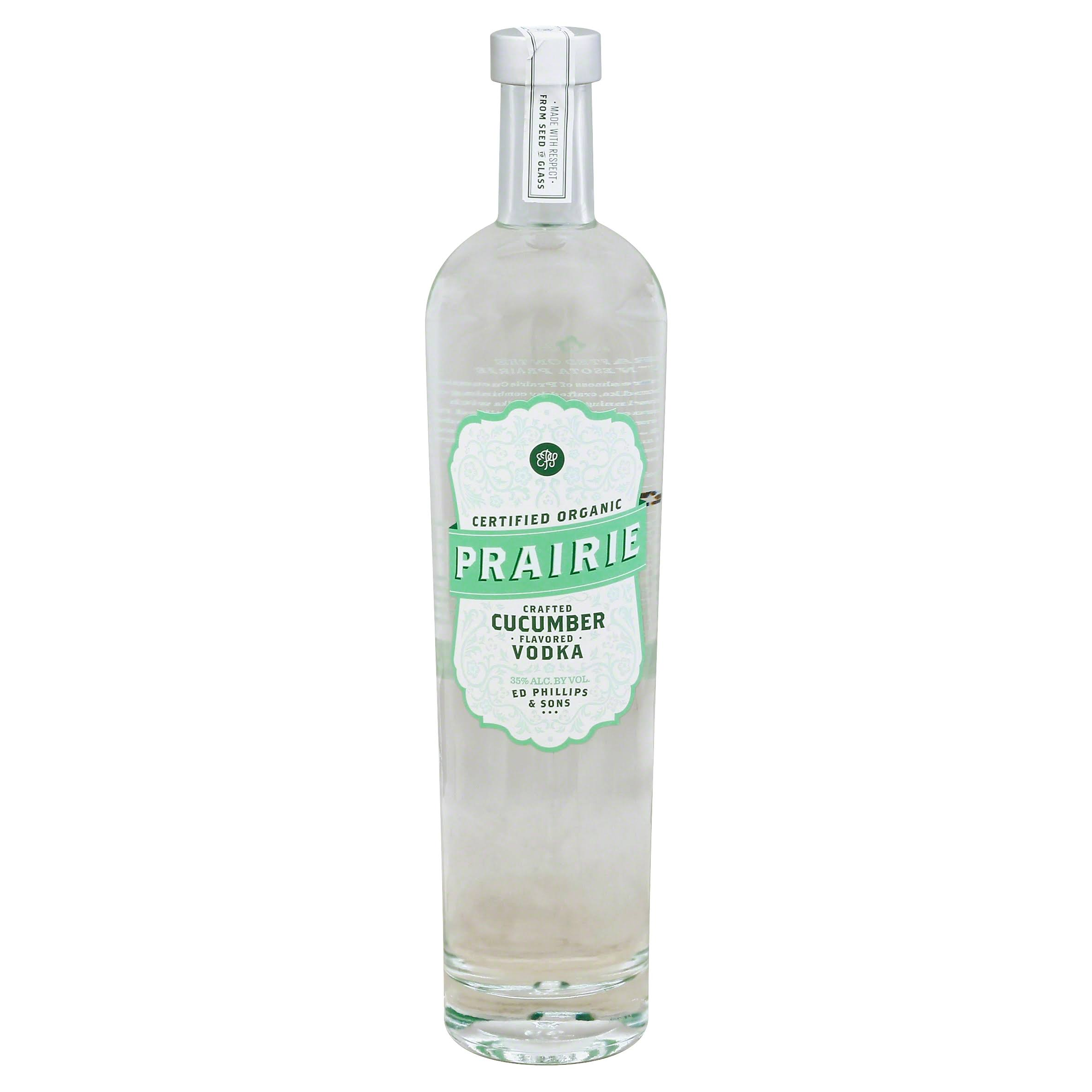 Prairie Handcrafted Vodka - Cucumber Flavored