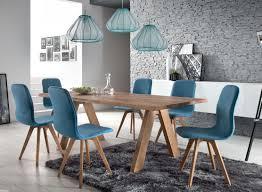 schalenstuhl stuhl esszimmer modern blau eiche massiv