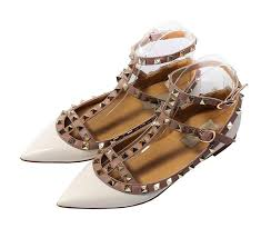com katypeny womens stud buckle shallow mouth pointed toe