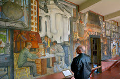 Coit Tower Murals Images by Mural In Coit Tower San Francisco Stock Photo Image 34198734