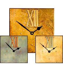 Square Clocks With Large Roman 12 Dials