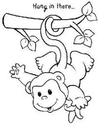 Free Digi Stamp Monkey Hang In There