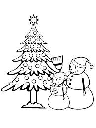 Christmas Tree Coloring Page Print by Christmas Tree Coloring Page