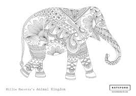 Zentangle Elephant Animal Coloring Pages