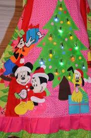 Holiday Christmas Custom Boutique Disney Fab 5 LIGHT UP Dress