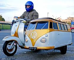 Luxurious Jay Dyer Shows Of The VW Camper Sidecar He Built For His Son On
