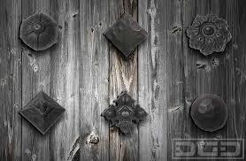 Rustic Iron Clavos Rosettes Decorative Dummy Hardware For Custom Garage Doors And Garden Gates