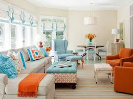 View In Gallery Burnt Orange And Turquoise Accent Colors Room