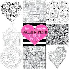 Full Image For Free Valentine Coloring Pages By U Create Printable Hello Kitty