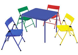 kids folding table and chairs set table designs