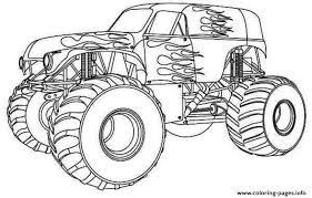 Hot Wheels Monster Truck Kids Coloring Pages