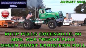 100 Trucks Plus MTTP PULLS GREENVILLE MICHIGAN MODIFIED GAS TRUCKS PLUS GREEN GHOST
