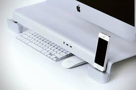 apple bureau uniti stand for imac and apple displays hiconsumption