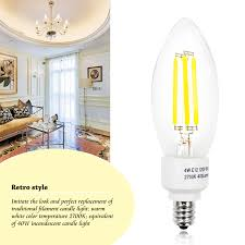 3w clear led filament bulb warm white led filament candle light